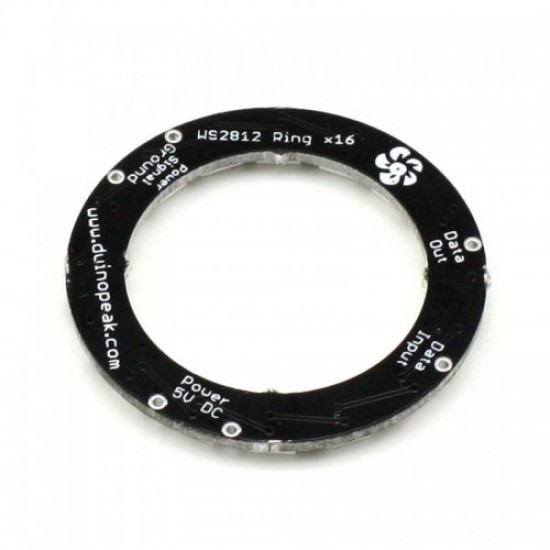 RainbowPixel Ring - 16 x WS2812 5050 RGB/W LED with Integrated Drivers