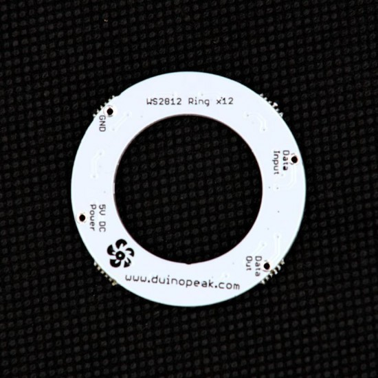 RainbowPixel Ring - 12 x WS2812 5050 RGB/W LED with Integrated Drivers